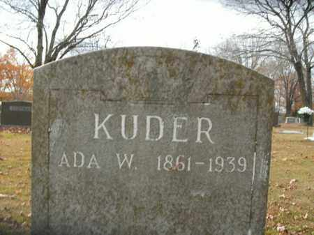 KUDER, ADA (SECOND STONE) - Boone County, Arkansas | ADA (SECOND STONE) KUDER - Arkansas Gravestone Photos