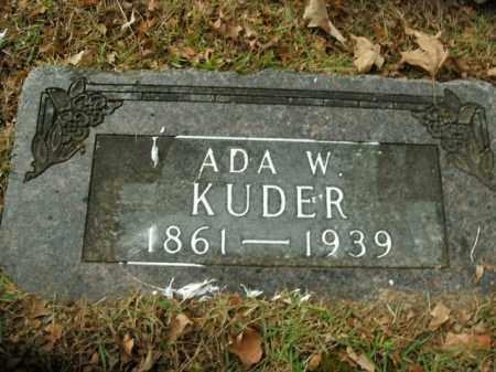 KUDER, ADA W. - Boone County, Arkansas | ADA W. KUDER - Arkansas Gravestone Photos