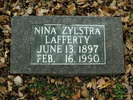 ZYLSTRA LAFFERTY, NINA - Boone County, Arkansas | NINA ZYLSTRA LAFFERTY - Arkansas Gravestone Photos
