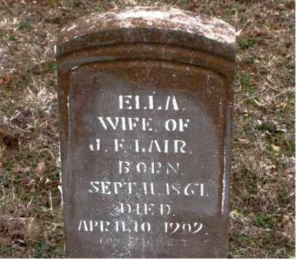 LAIR, LUTHER ELLA - Boone County, Arkansas | LUTHER ELLA LAIR - Arkansas Gravestone Photos