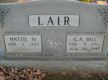 "LAIR, GEORGE ALONZO ""BILL"" - Boone County, Arkansas 