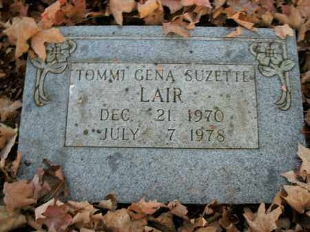 LAIR, TOMMI GENA SUZETTE - Boone County, Arkansas | TOMMI GENA SUZETTE LAIR - Arkansas Gravestone Photos