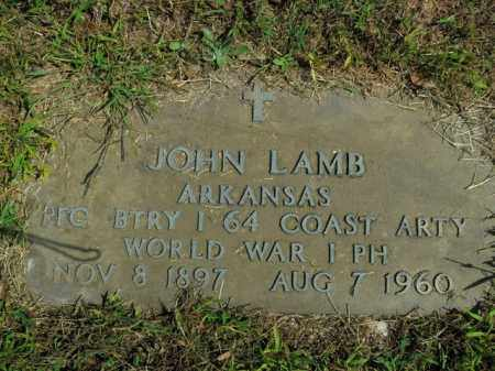 LAMB  (VETERAN WWI), JOHN BERRY - Boone County, Arkansas | JOHN BERRY LAMB  (VETERAN WWI) - Arkansas Gravestone Photos