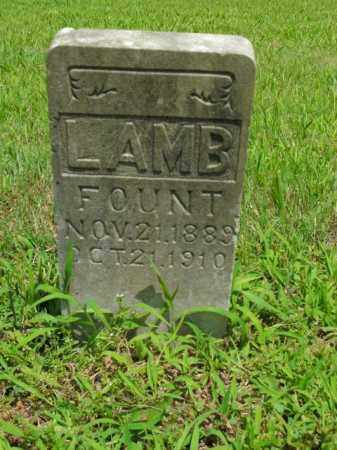 LAMB, FOUNT - Boone County, Arkansas | FOUNT LAMB - Arkansas Gravestone Photos