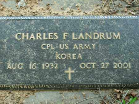 LANDRUM  (VETERAN KOR), CHARLES F. - Boone County, Arkansas | CHARLES F. LANDRUM  (VETERAN KOR) - Arkansas Gravestone Photos