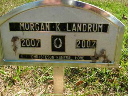 LANDRUM, MORGAN K. - Boone County, Arkansas | MORGAN K. LANDRUM - Arkansas Gravestone Photos