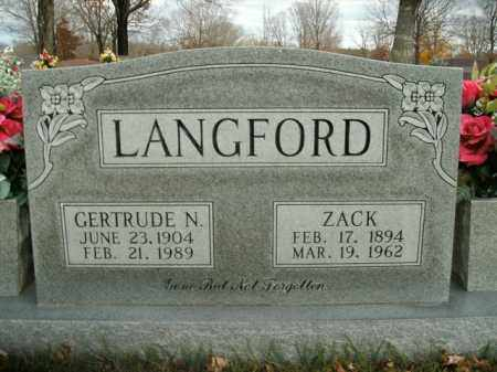 LANGFORD, ZACK - Boone County, Arkansas | ZACK LANGFORD - Arkansas Gravestone Photos