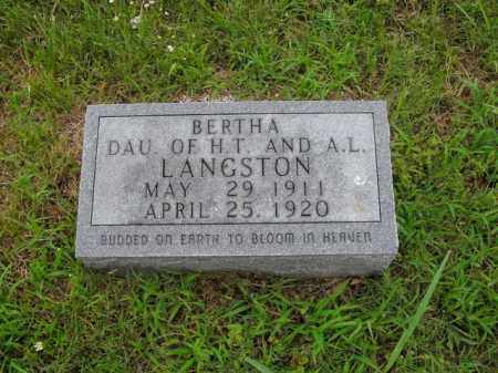 LANGSTON, BERTHA - Boone County, Arkansas | BERTHA LANGSTON - Arkansas Gravestone Photos
