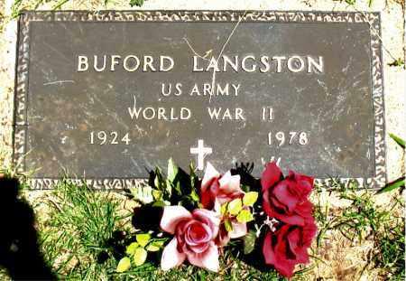 LANGSTON  (VETERAN WWII), BUFORD - Boone County, Arkansas   BUFORD LANGSTON  (VETERAN WWII) - Arkansas Gravestone Photos