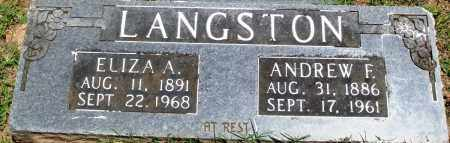 LANGSTON, ANDREW FRANKLIN - Boone County, Arkansas | ANDREW FRANKLIN LANGSTON - Arkansas Gravestone Photos