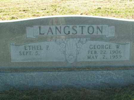 LANGSTON, GEORGE W. - Boone County, Arkansas | GEORGE W. LANGSTON - Arkansas Gravestone Photos