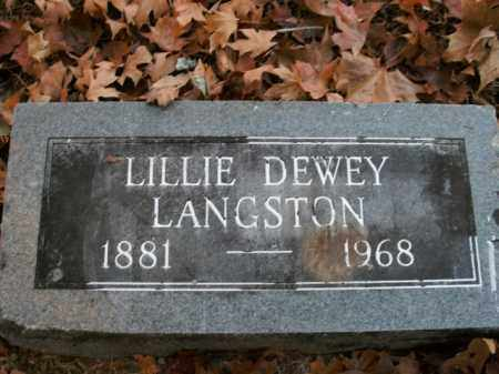 LANGSTON, LILLIE DEWEY - Boone County, Arkansas | LILLIE DEWEY LANGSTON - Arkansas Gravestone Photos