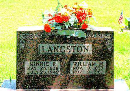 LANGSTON, WILLIAM M. - Boone County, Arkansas | WILLIAM M. LANGSTON - Arkansas Gravestone Photos