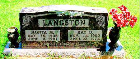 LANGSTON, MONTA M. - Boone County, Arkansas | MONTA M. LANGSTON - Arkansas Gravestone Photos