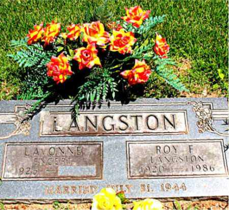 LANGSTON, ROY F. - Boone County, Arkansas | ROY F. LANGSTON - Arkansas Gravestone Photos