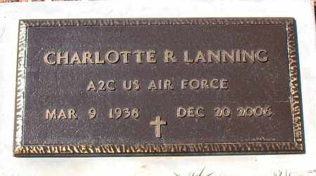 LANNING  (VETERAN), CHARLOTTE  R - Boone County, Arkansas | CHARLOTTE  R LANNING  (VETERAN) - Arkansas Gravestone Photos