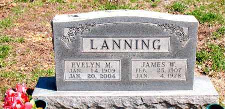 LANNING, JAMES W. - Boone County, Arkansas | JAMES W. LANNING - Arkansas Gravestone Photos