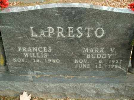 LAPRESTO, MARK V. - Boone County, Arkansas | MARK V. LAPRESTO - Arkansas Gravestone Photos