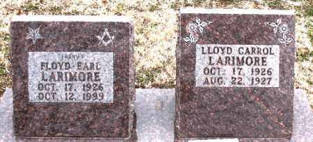 LARIMORE, LLOYD CARROL - Boone County, Arkansas | LLOYD CARROL LARIMORE - Arkansas Gravestone Photos