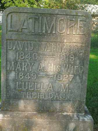 LATIMORE, LUELLA M. - Boone County, Arkansas | LUELLA M. LATIMORE - Arkansas Gravestone Photos