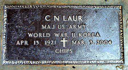 LAUR  (VETERAN 2 WARS), CLIFFORD N. - Boone County, Arkansas | CLIFFORD N. LAUR  (VETERAN 2 WARS) - Arkansas Gravestone Photos