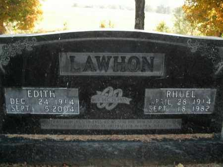 LAWHON, EDITH - Boone County, Arkansas | EDITH LAWHON - Arkansas Gravestone Photos
