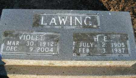 LAWING, VIOLET - Boone County, Arkansas | VIOLET LAWING - Arkansas Gravestone Photos