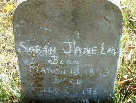 LAY, SARAH JANE - Boone County, Arkansas | SARAH JANE LAY - Arkansas Gravestone Photos
