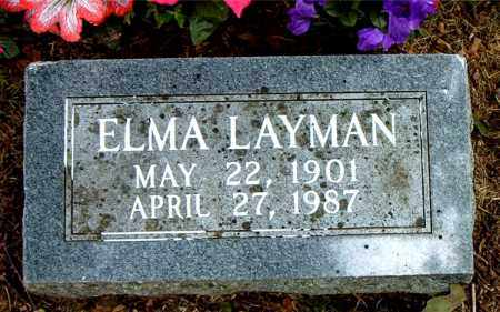 LAYMAN, ELMA - Boone County, Arkansas | ELMA LAYMAN - Arkansas Gravestone Photos