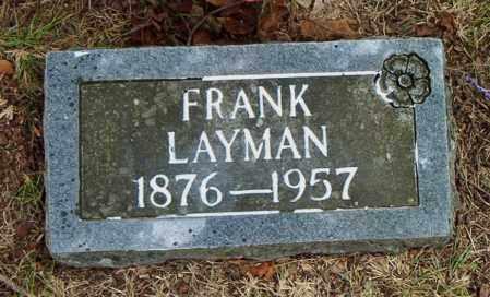 LAYMAN, FRANK - Boone County, Arkansas | FRANK LAYMAN - Arkansas Gravestone Photos