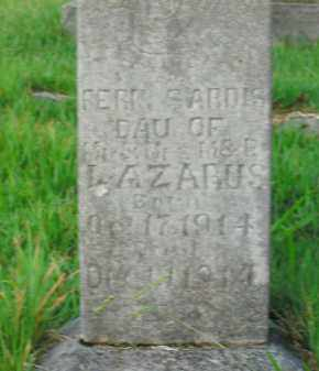 LAZARUS, FERN SARDIS - Boone County, Arkansas | FERN SARDIS LAZARUS - Arkansas Gravestone Photos