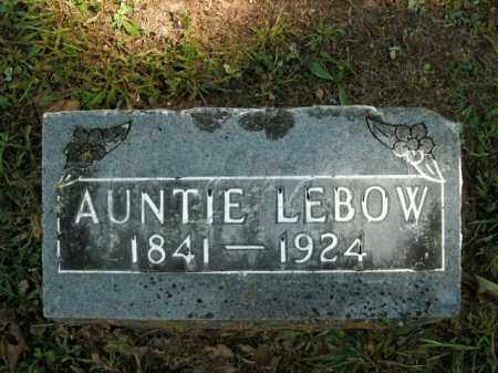 LEBOW, AUNTIE - Boone County, Arkansas | AUNTIE LEBOW - Arkansas Gravestone Photos