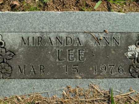LEE, MIRANDA ANN - Boone County, Arkansas | MIRANDA ANN LEE - Arkansas Gravestone Photos