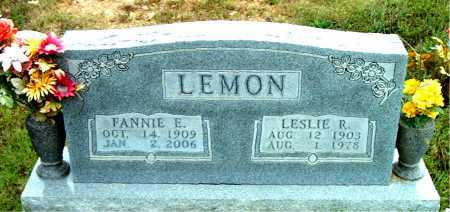 LEMON, FANNIE E - Boone County, Arkansas | FANNIE E LEMON - Arkansas Gravestone Photos