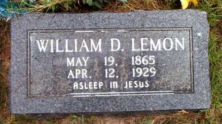 LEMON, WILLIAM   D - Boone County, Arkansas | WILLIAM   D LEMON - Arkansas Gravestone Photos