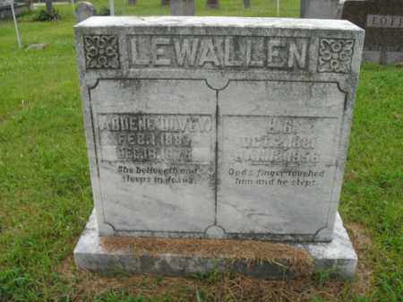 OLVEY LEWALLEN, ADDENE - Boone County, Arkansas | ADDENE OLVEY LEWALLEN - Arkansas Gravestone Photos