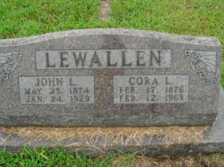 GARRISON LEWALLEN, CORA L. - Boone County, Arkansas | CORA L. GARRISON LEWALLEN - Arkansas Gravestone Photos