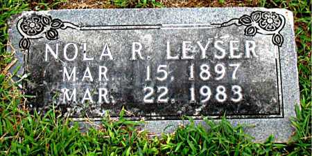 LEYSER, NOLA R. - Boone County, Arkansas | NOLA R. LEYSER - Arkansas Gravestone Photos