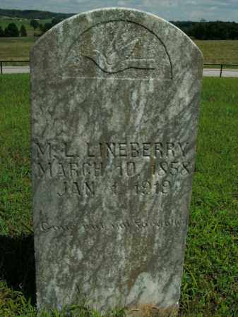 LINEBERRY, MARCUS LUTHER - Boone County, Arkansas | MARCUS LUTHER LINEBERRY - Arkansas Gravestone Photos