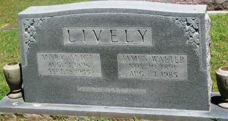 LIVELY, MARY ALICE - Boone County, Arkansas | MARY ALICE LIVELY - Arkansas Gravestone Photos