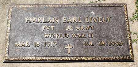 LIVELY (VETERAN WWII), HARLAN EARL - Boone County, Arkansas | HARLAN EARL LIVELY (VETERAN WWII) - Arkansas Gravestone Photos