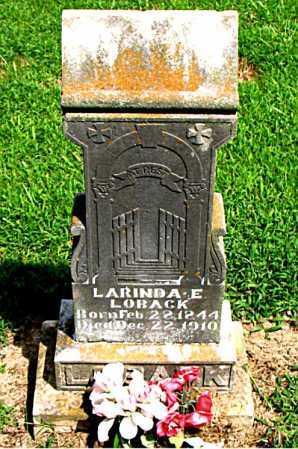LOBACK, LARINDA E. - Boone County, Arkansas | LARINDA E. LOBACK - Arkansas Gravestone Photos