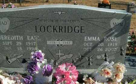 LOCKRIDGE, MEREDITH EARL - Boone County, Arkansas | MEREDITH EARL LOCKRIDGE - Arkansas Gravestone Photos