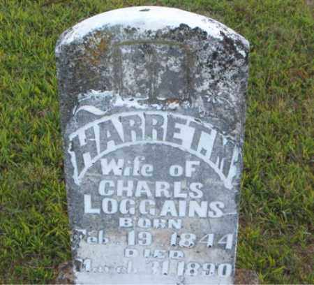LOGGAINS, HARRET  M. - Boone County, Arkansas | HARRET  M. LOGGAINS - Arkansas Gravestone Photos