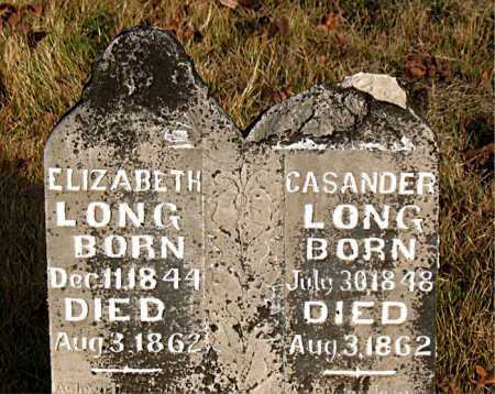 LONG, CASANDER - Boone County, Arkansas | CASANDER LONG - Arkansas Gravestone Photos