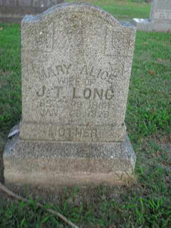 LONG, MARY ALICE - Boone County, Arkansas | MARY ALICE LONG - Arkansas Gravestone Photos