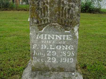 LONG, MINNIE - Boone County, Arkansas | MINNIE LONG - Arkansas Gravestone Photos