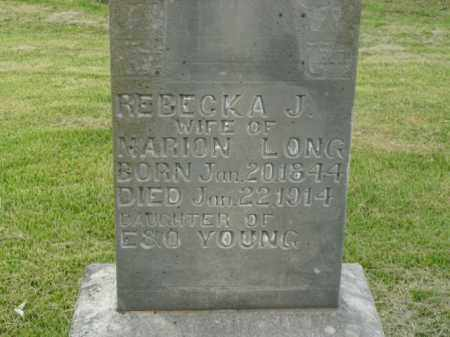 YOUNG LONG, REBECKA J. - Boone County, Arkansas | REBECKA J. YOUNG LONG - Arkansas Gravestone Photos
