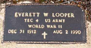 LOOPER  (VETERAN WWII), EVERETT  W - Boone County, Arkansas | EVERETT  W LOOPER  (VETERAN WWII) - Arkansas Gravestone Photos