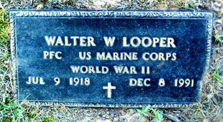 LOOPER  (VETERAN WWII), WALTER W. - Boone County, Arkansas | WALTER W. LOOPER  (VETERAN WWII) - Arkansas Gravestone Photos